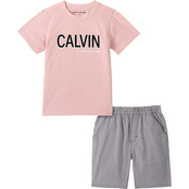 Calvin Klein Little Boys Tee and Shorts 2 pc. Set