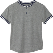 Buzz Cuts Boys Jersey Yoko Trim Henley Tee