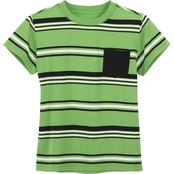 Buzz Cuts Boys Stripe Jersey Short Sleeve Pocket Tee