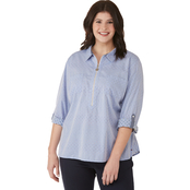 Tommy Hilfiger Plus Size Roll Tab Top