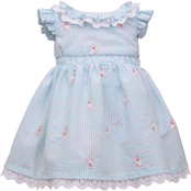 Bonnie Jean Toddler Girls Flutter Embroidered Seersucker Dress
