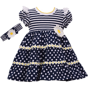 Bonnie Jean Toddler Girls Daisy Knit Dress with Headband
