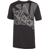 adidas Boys Statement Badge of Sport Poly Mel Tee