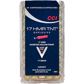 CCI TNT .17 HMR 17 Gr. Jacketed Hollow Point, 50 Rounds