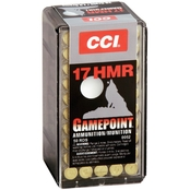 CCI Gamepoint .17 HMR 20 Gr. Jacketed Soft Point, 50 Rounds
