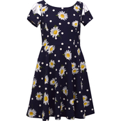 Bonnie Jean Girls Daisy Print Knit Dress