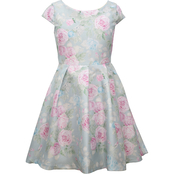 Bonnie Jean Girls Shantung Print Dress