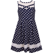 Bonnie Jean Girls Textured Dot Dress