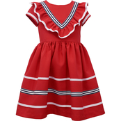 Bonnie Jean Girls Poly Poplin Pleat Dress
