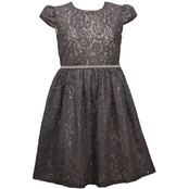Bonnie Jean Girls Dress with Waist Trim