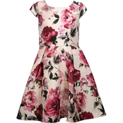 Bonnie Jean Girls Floral Print Pleated Skater Dress