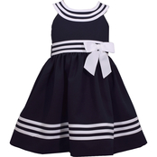 Bonnie Jean Girls U Neck Nautical Dress
