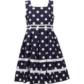 Bonnie Jean Girls Polka Dot Pleat Dress