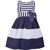Bonnie Jean Girls Stripe to Bands Dress