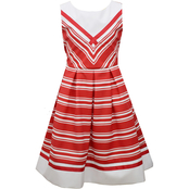 Bonnie Jean Girls Stripe Nautical Dress