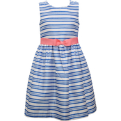 Bonnie Jean Girls Shantung Stripe Dress