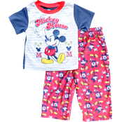 Disney Infant Boys Mickey Mouse 2 pc. Polyester Pajama Set