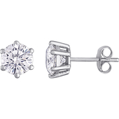 Bella Terra 14K White Gold 2 CTW Moissanite Stud Earrings