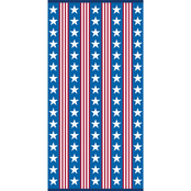 Just for Beach Patriotic Stars Red, White and Blue Beach Towel