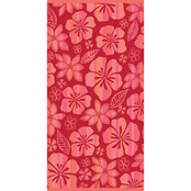 Just for Beach Coral Hibiscus Beach Towel