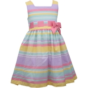 Bonnie Jean Little Girls linen Striped Dress