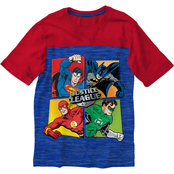 Marvel Justice League Yoke Tee Royal Snow Heather