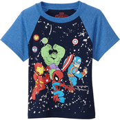 Marvel Toddler Boys Avengers Raglan Tee