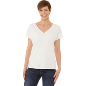 Passports Fabric Block V Neck Top