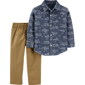 Carter's Toddler Boys Chambray Button Front Top & Canvas Pants 2 pc. Set