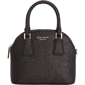 Kate Spade Sylvia Glitter Mini Leather Dome Satchel