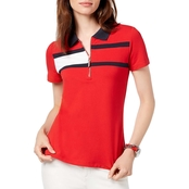 Tommy Hilfiger Flag Stripe Zip Polo