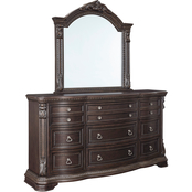 Signature Design by Ashley Wellsbrook 9 Drawer Dresser and Mirror