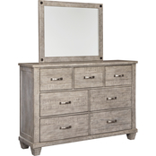 Signature Design by Ashley Naydell 7 Drawer Dresser and Mirror