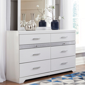 Signature Design by Ashley Jallory 8 Drawer Dresser and Mirror