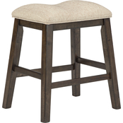 Signature Design by Ashley Rokane Counter Saddle Stool 2 pk.