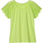 Gumballs Infant Girls Jersey Eyelet Short Sleeve Top