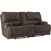Signature Design by Ashley Kitching Power Reclining Loveseat