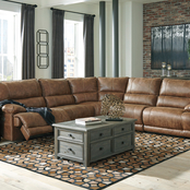 Signature Design by Ashley Thurles 5 pc. Sectional with 2 Power Reclining Seats