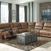 Signature Design by Ashley Thurles 6 pc. Sectional with 2 Power Reclining Seats
