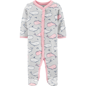 Carter's Infant Girls Whale Print Footed Sleep and Play