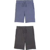 Gumballs Infant Boys Navy and Heather Grey Pebble Textured Shorts 2 pk.