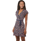 Michael Kors Garden Print Faux Wrap Dress