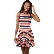 Michael Kors Striped Ottoman Flounce Dress