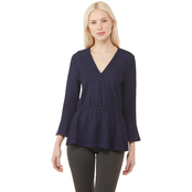 Michael Kors Pucker Ruffle Cuff Top