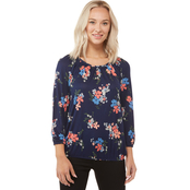 Michael Kors Blooming Bouquet Peasant Top