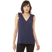 Michael Kors Ring Tie V Neck Top
