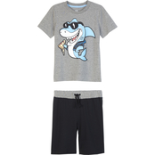 Gumballs Infant Boys Pizza Shark Tee and Shorts 2 pc. Set