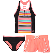 ZeroXposur Girls Cabana Caper 3 pc. Swim Set