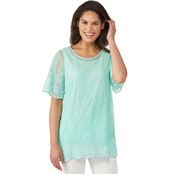 Passports Lace Tunic Over Tank