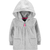 Carter's Infant Girls Zip Up French Terry Hoodie